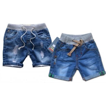 Unisex Denim Drawstring Pull-On Shorts (3mths- 12mths)