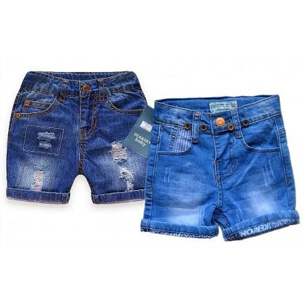 Unisex Denim Turn-up Shorts (6mths-24mths)