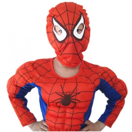 Boys Spiderman 3pc Costume Set (4-5yrs, 6-7yrs)