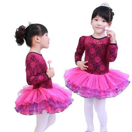 3f1d14f83 Lovely Barbie Girl Ballerina Lacy Leotard Tutu Dress (4-6yrs)- Yellow colour