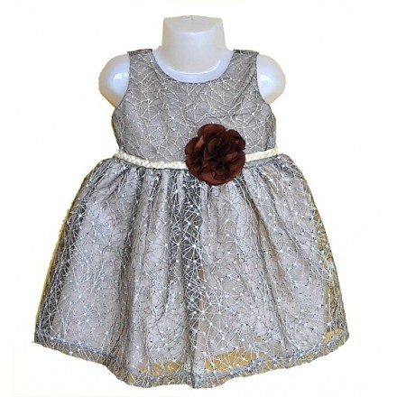 Zara baby Girls Cord Flower Occassion Dress- 24mths