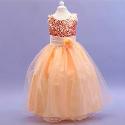 TUTUPETTI Sequin Flower Tulle Dress- 12-18mths