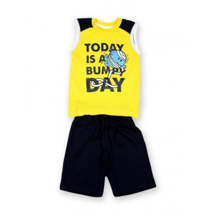 Kids Ville Mr. Men Boys Yellow & Navy Outfit Set (2-4yrs)