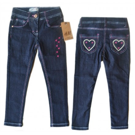 H&M Girls Skinny straight Jeans- 4-6yrs