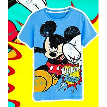 Kids Ville Boys Blue Mickey Printed T-shirt (7-12years)