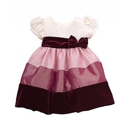 Rare Editions Infant Rose Colorblock Dress 2pcs set with bloomers- 24mths