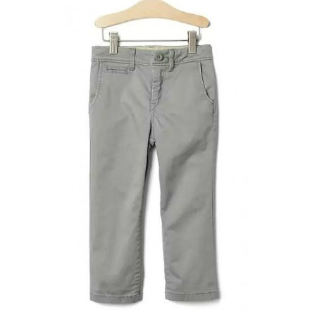 Gap Boys Solid Grey khakis- 5-6yrs