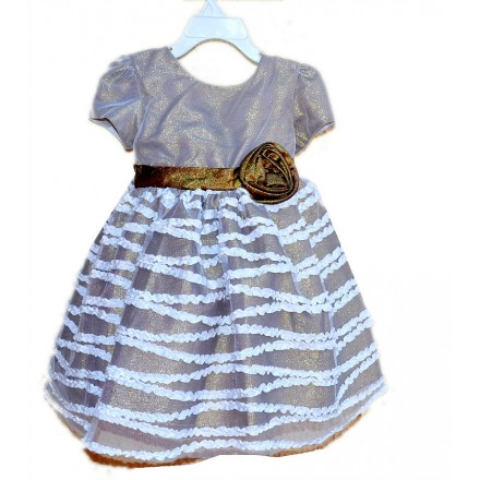Bella by Marmellata Metallic Occassion Dress- 2yrs