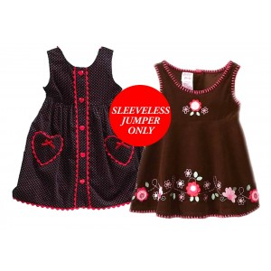 Blueberi Boulevard Girls Sleeveless Jumper Only- 2 designs (3mths-5yrs)