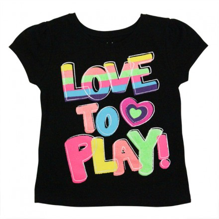 Garanimals 'LOVE TO PLAY' Graphic Tee (2-4yrs)