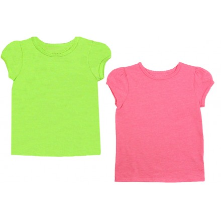 Garanimals Baby Toddler Girl Short Sleeve Solid Tee- Lemon Colour- 12mths-4yrs