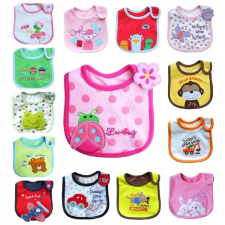 Carter's Baby Feeding Bibs- Assorted designs- One size