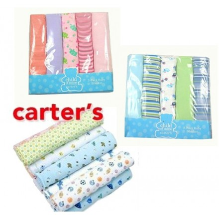 CARTERS CHILD OF MINE 5PK BLANKET SET