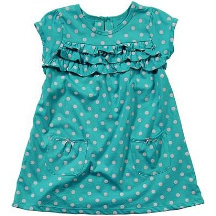 Carter's Toddler Knit Capped Sleeve Dress- POLKA DOT -4yrs