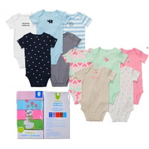 CARTER'S 5 PACK WIGGLE IN BODYSUITS- BOYS & GIRLS (0-24mths)