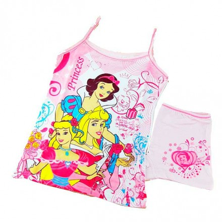 Girls  Character Vest and Shorts Underwear Set- 3- 8yrs