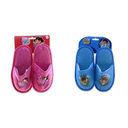 DORA & DIEGO VELVET BEDROOM SLIPPERS- US Size 5-8