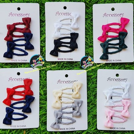 Hair Bow Clips - assorted colours