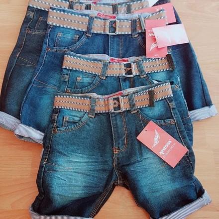 Arizona Boys Denim Shorts With Belt  - 2, 4, 8, 10, 12yrs