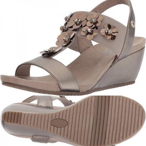 Anne Klein Cassie Wedge Sandal  - Size - US 6, EUR 38