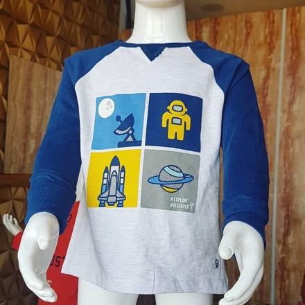 Okaidi Boys Long Sleeve Tees -  2, 3, 4,8yrs
