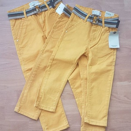 Zara Boys Mustard Denim Belted Jeans  2yrs, 3yrs, 5yrs