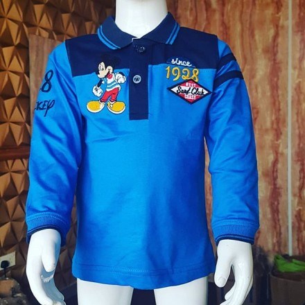 Disney Mickey Boys Long Sleeve Tee - 6-12mths, 12-18mths