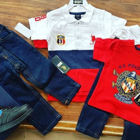 U.S POLO ASSN Boys 3 Piece Set - 18mths, 24mths