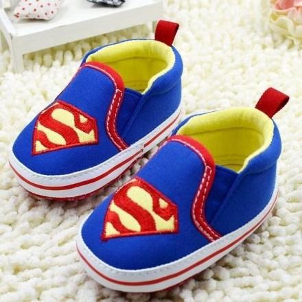 Superman Baby Boys Prewalker Shoes -  0- 6mths