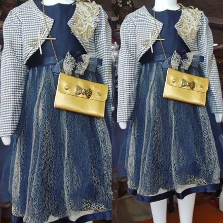 Buddy Bee Kids 3pcs Special Occasion Dress ,Jacket & Handbag