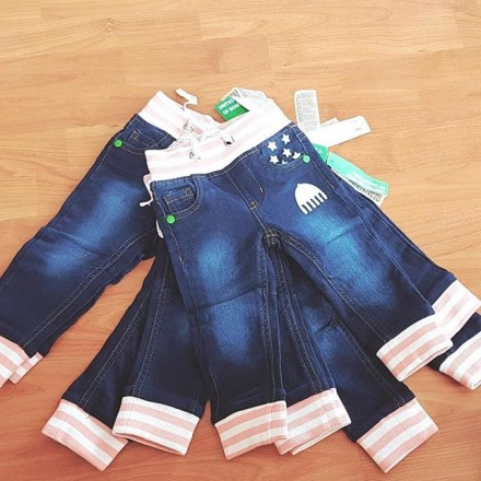 United Colours of Benetton Girls Skinny Jeans - 6mths- 12mths