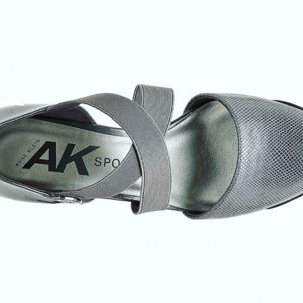 AK Anne Klein Sport Teaberry Wedge Pump, Grey  - Size - US 6 / Eur 38