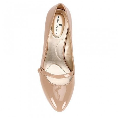 Bandolino Nude Wedge Pumps - Size- 6/Eur 38