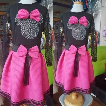 Ican Girls Turkey Minnie Themed 2 Piece Set - 6-7yrs
