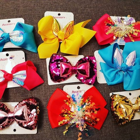 Large Hair Bow Clips - Assorted Designs