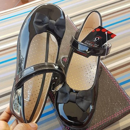Way to go Patent Girls School Shoes - Size 31, 32