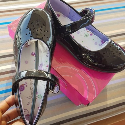Way to go Patent Girls School Shoes - Size 28