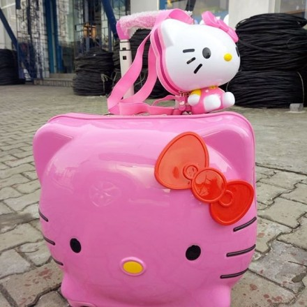 Hello Kitty Luggage With a Cute Little Mini Backpack