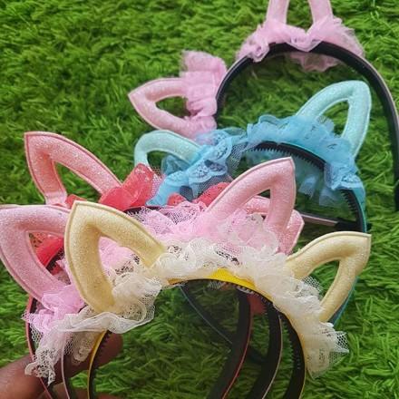 Girls Lacy Double Ears Headband