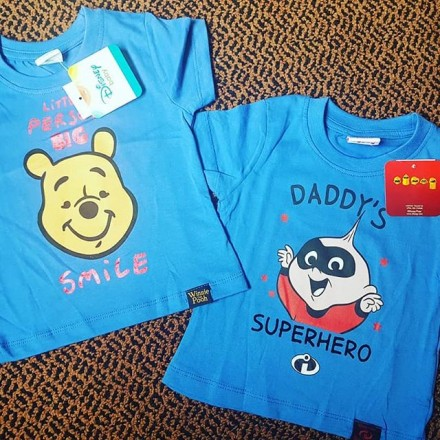 Pooh and Incredibles Cartoon Baby Boy Tees - Size - 9-12mths, 12- 18mths