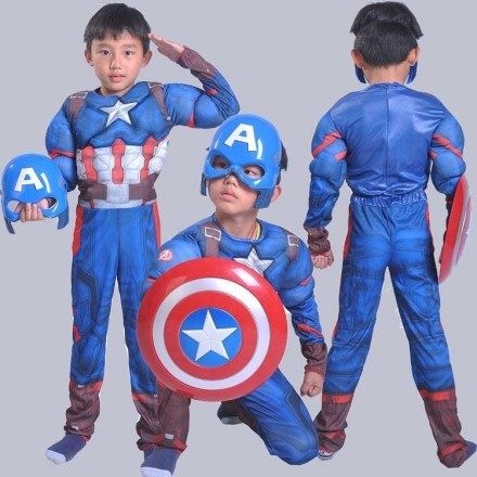 Boys Captain America Costume - size - 2-7yrs