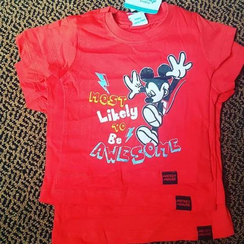 Disney Mickey Boys Tees - 6mths - 18mths