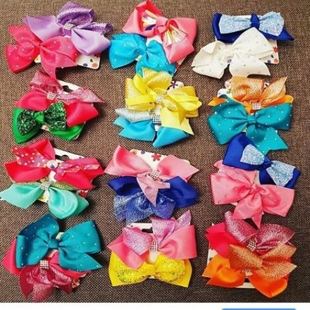 Girls Hair Bow Clips - 2pack