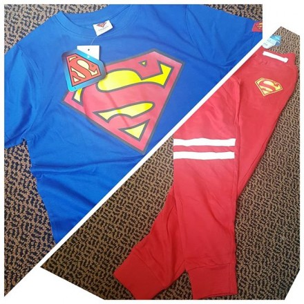 Superman Joggers and Tee Set -  7-8yrs