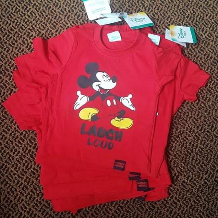 "Baby Boy ""Laugh Loud"" Mickey Tees - 6-9mths, 9-12mths, 12-18mths"