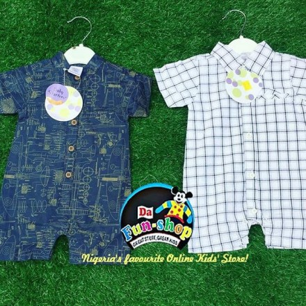 Baby Starters Collared Boys Rompers - 0-3mths, 3-6mths, 6-9mths