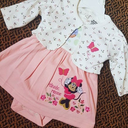 Minnie Mouse Romper Dress With Bolero  - 0-3MTHS, 3-6MTHS