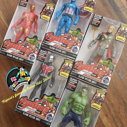 Avengers Age of Ultron Super Hero Figures - Captain America, Hulk, Iron man, Thor