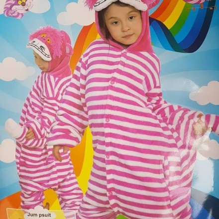 Cheshire Cat Animal Kids Costume  - Unisex- 3-12yrs