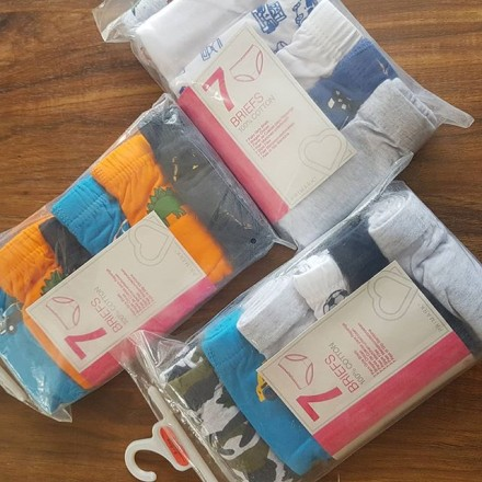 Boys Original Cotton 6 Pack Briefs - 5-6yrs, 7-8yrs, 9-10yrs